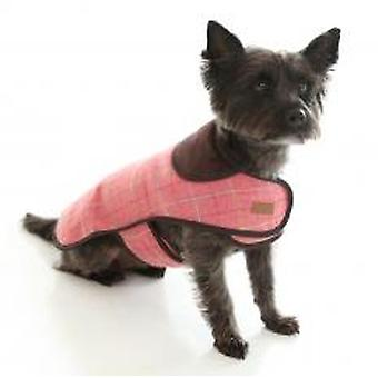 Doodlebone Tweed Jacket With Harness Hole Pink Small