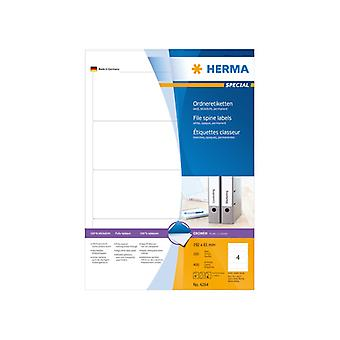 File spine labels white A4 192x61 Herma 400 pcs.