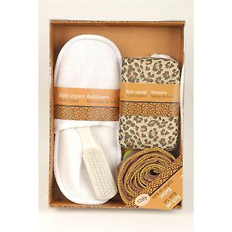 4pcs Bath Set Leopard