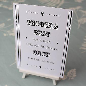 WHITE 'Choose a Seat' Sign LOVE IS SWEET Design r