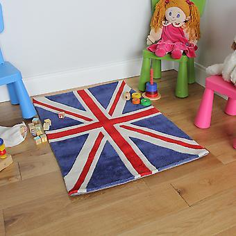 Childrens blå Union Jack Flag tæppe