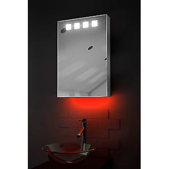Ambient Bathroom Mirror Cabinet With Sensor & Shaver Socket k254