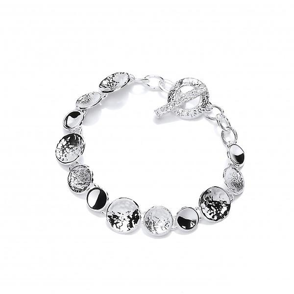 Cavendish French Silver Textured Dishes Bracelet