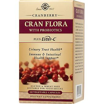 Solgar Cran Flora Probiotics Plus Ester-C Vegetable Capsules 60 ct