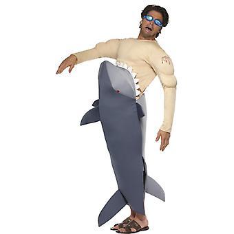 Shark kostium rekin rekin zjada kostium man wielki biały rekin