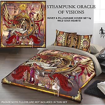 STEAMPUNK ORACLE OF VISIONS - DUVET & PILLOW COVERS CASE SET KINGSIZE