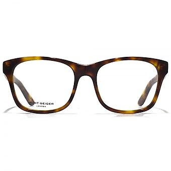 Kurt Geiger Savannah Retro Acetate Square Glasses In Tortoiseshell