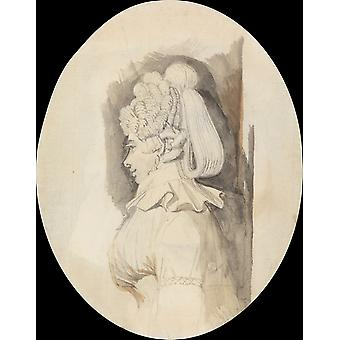 Henry Fuseli - Study of a Lady Poster Print Giclee