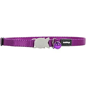 Red Dingo Smooth Purple Cat Collar Baby 8Mm - 16-26Cm