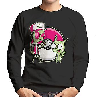 PoGIRmon Invader Zim Pokemon mænds Sweatshirt