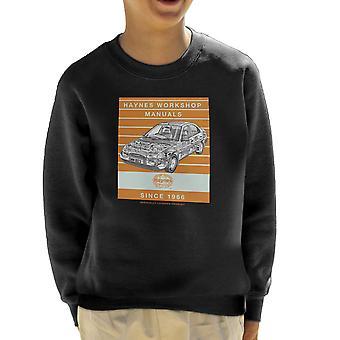 Haynes Workshop Manual 1923 Ford Mondeo Stripe Kid's Sweatshirt