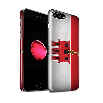 STUFF4 Glanz zurück Snap-On Handy Hardcase für Apple iPhone 7 Plus / Gibraltar/Gibraltar Design / Flaggen Sammlung