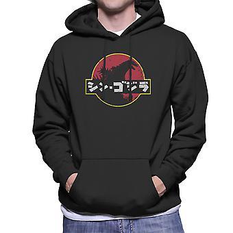 Shin Gojira Godzilla Jurassic Park Logo Herren Sweatshirt mit Kapuze