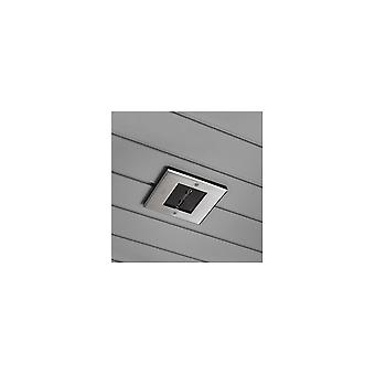 Konstsmide Recessed Stainless Steel LED Square Fascia Spotlight