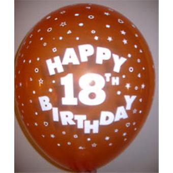 """Balloons HAPPY 18TH BIRTHDAY Ass Colours 12"""""""