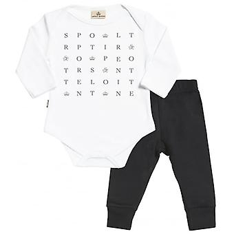 Spoilt Rotten Text Babygrow & Jersey Trousers Outfit Set