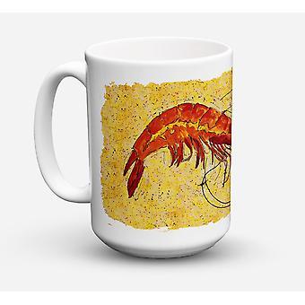 Once de lave-vaisselle sûre pour micro-ondes céramique Coffee Mug 15 crevettes