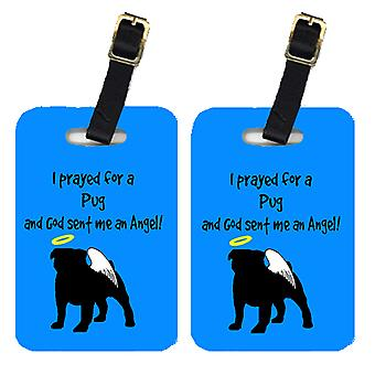 Carolines Treasures  AN1053BT Pair of 2 Pug Luggage Tags