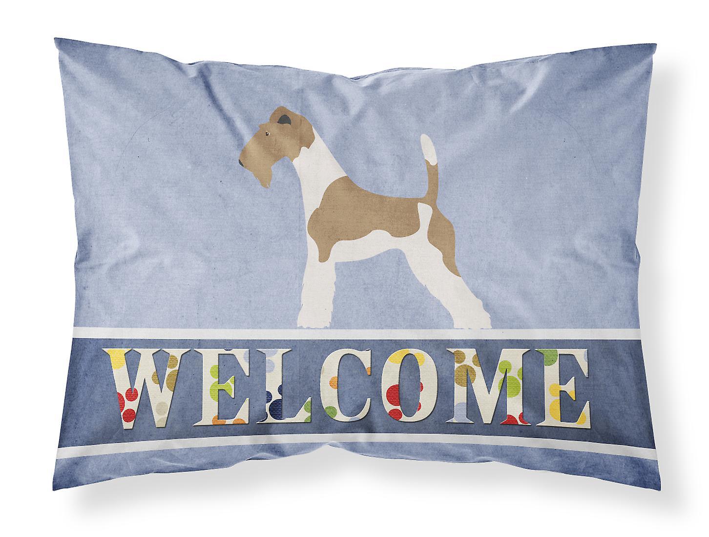 Wire Tissu Fox Bienvenue Terrier Taie Du Standard D'oreiller hQrdtsxC