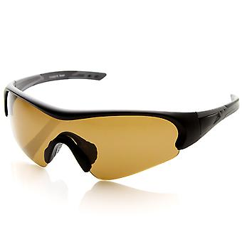 TR-90 Polarized Half-Frame Sports Sunglasses w/ Mono Anti-Glare Lens