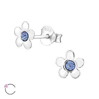 Flower crystal from Swarovski® - 925 Sterling Silver Children's Ear Studs