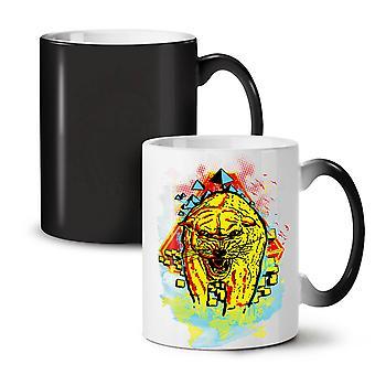 Beast Animal Tiger Wild NEW Black Colour Changing Tea Coffee Ceramic Mug 11 oz | Wellcoda