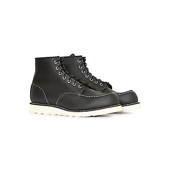 Red Wing Heritage 6-Inch Classic Moc Toe Leather Black