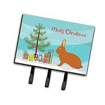 Carolines Treasures  BB9336TH68 Rex Rabbit Christmas Leash or Key Holder