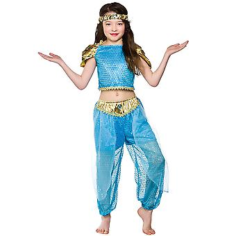 Principessa araba Childrens Fancy Dress Costume Top Pantaloni & archetto