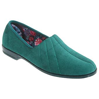 Sleepers Womens/Ladies Audrey III Roll Top Velour Slippers