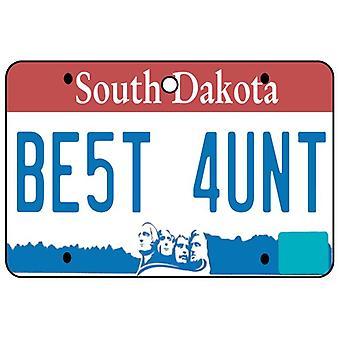 Zuid-Dakota - beste tante License Plate auto luchtverfrisser
