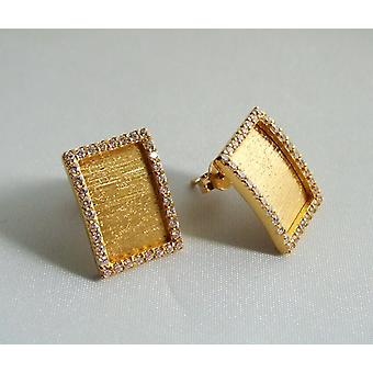 22 carat gold earrings with zirconia