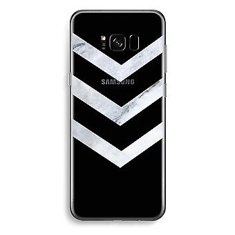 Samsung Galaxy S8 Plus caja transparente (suave) - flechas de mármol