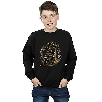 Marvel Boys Avengers Infinity War Marvel Logo Sweatshirt
