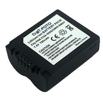 Dot.Foto Panasonic CGR-S006E, DMW-BMA7 Replacement Battery - 7.4v / 760mAh