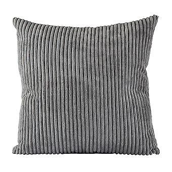 Villa Collection Velvet Look Cushion, Dark Grey