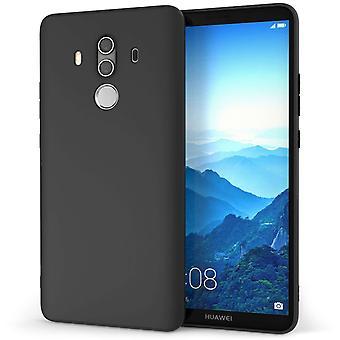 Huawei Mate 10 Pro Mat Gel Case - effen zwart