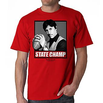 Napoleon Dynamite State Champ Box Men's Red Funny T-shirt
