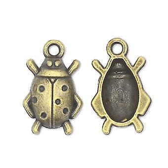 Packet 15 x Steampunk Antique Bronze Tibetan 18mm Ladybug Charm/Pendant ZX07435
