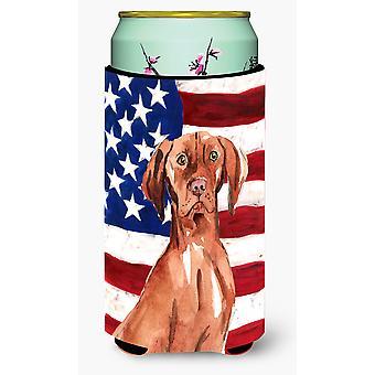 Patriotic USA Vizsla Tall Boy Beverage Insulator Hugger