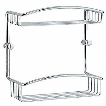 Cabin Double Soap Basket - Polished Chrome CK377