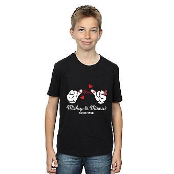 Chłopcy Disney Myszka Miki Love ręce T-Shirt
