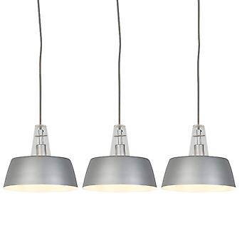 Trio Leuchten Set of 3 Modern Pendant Lamps Grey - Manu