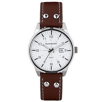 Bruno Banani ver ob reloj de pulsera analógico BR30007 de cuero