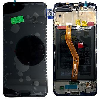 Huawei visar LCD enhet + 10 Service Pack 02351SXC svart ram för ära vy