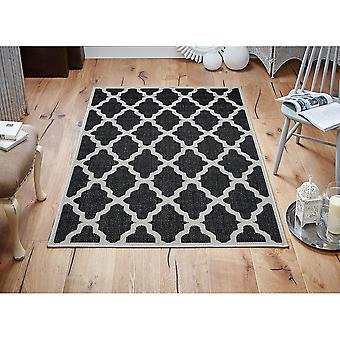 Moda Flatweave Trellis Black  Runner Rugs Plain/Nearly Plain Rugs