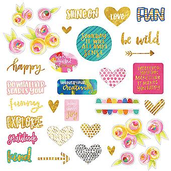 Make Your Mark Paper Pieces Cardstock Die-Cuts-W/Gold Foil