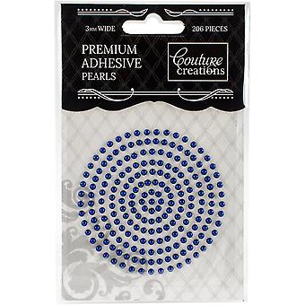Couture Creations Self-Adhesive Pearls 3mm 206/Pkg-Midnight Blue