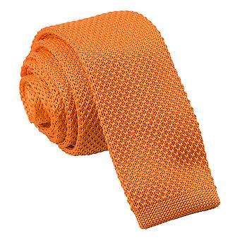 Tangerine strikkede mager slips