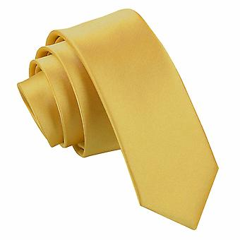 Lazo delgado Satén llano de oro